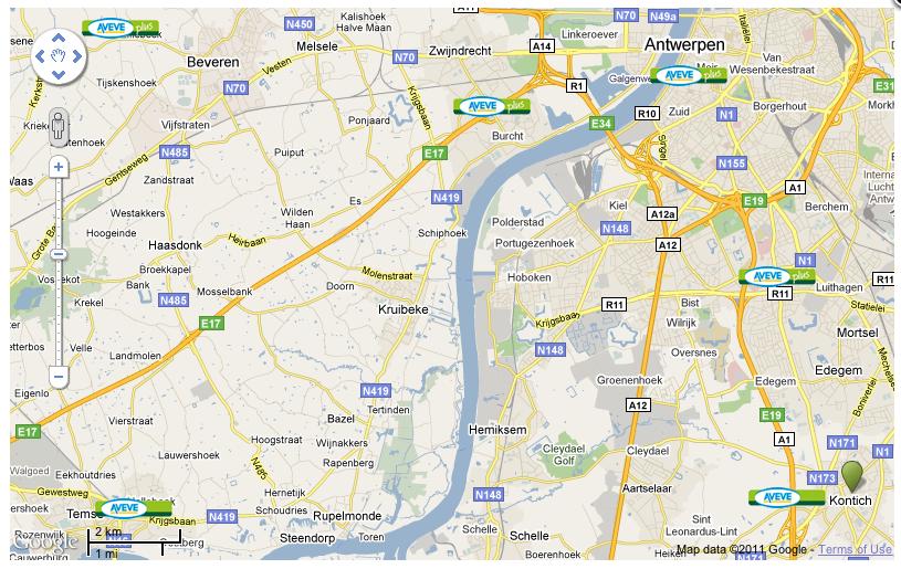 Aveve Map